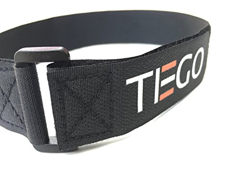[20 Pack] Hook and Loop Reusable Fastening Cable Tie Down Straps, Adjustable Sizes Hook and Loop and Ties for Securing Items at Home, Work and Outdoor, 20 Pack Combo by TIEGO (Image #1)