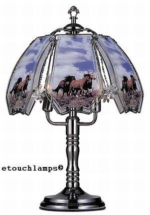 Horses on range touch lamp with pewter base table lamps amazon horses on range touch lamp with pewter base aloadofball Choice Image