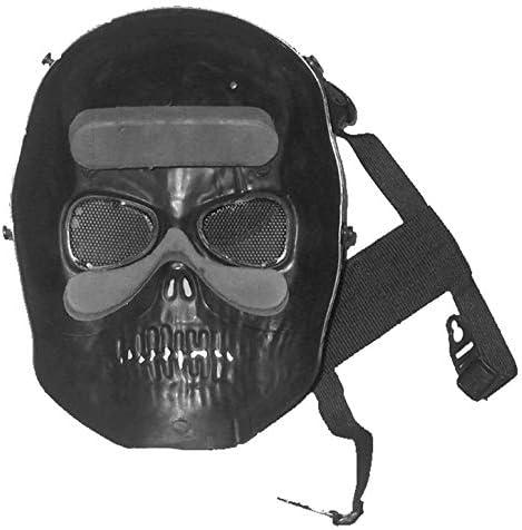 protecci/ón Completa para Airsoft Cascos con Escudo para los Ojos Paintball ArgoBar M/áscara de Esqueleto de Calavera para Aire Libre Pistola