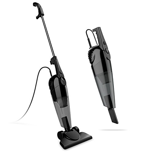SOWTECH 2 in 1 Stick and Handheld Vacuum 600W Corded Upright Lightweight Stick Vacuum and Handheld Vacuum Cleaner with HEPA Filtration Crevice Tool and Brush Accessories