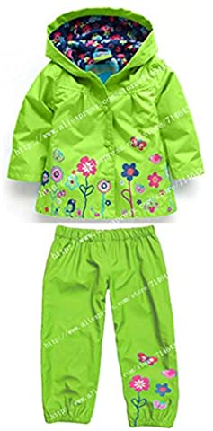 ROLO Spring Children Clothing Sets Sport Suit Tracksuit For Girls Clothes Suits Raincoat Coats Jackets Costume For Girls Kids Clothes Army Green 6