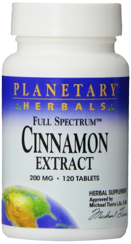 Planetary Herbals Cinnamon Extract Full Spectrum 200mg, For Healthy Blood Glucose Levels,120 (Spectrum Planetary Formulas 120 Tabs)