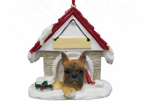 Boxer Ornament Dog Christmas - Boxer Doghouse Christmas Ornament