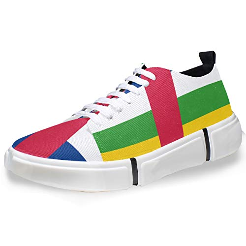 5.5 Central Pin - super3Dprinted Central African Republic Flag Men's Fashion Sneaker Casual Shoes