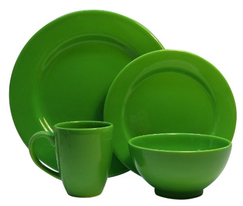 Waechtersbach Fun Factory II Green Apple 16-Piece Dinnerware Set, Service for 4