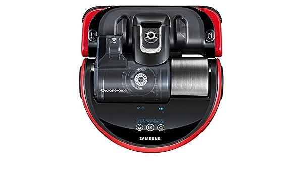 Samsung SR20J9020U Sin bolsa 0.7L Negro, Rojo aspiradora robotizada - Aspiradoras robotizadas (Sin bolsa, Negro, Rojo, Forma en D, LED, 0,7 L, ...