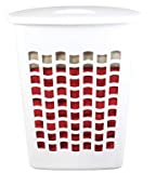 Rubbermaid Inc 2656-TP WHT White Plastic Laundry Hamper (Single Hamper)