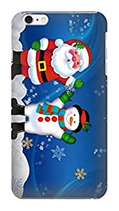 durable Hard TPU phone Case Cover Skin with fashionable New Style Popular Christmas photo For iphone 6 Plus