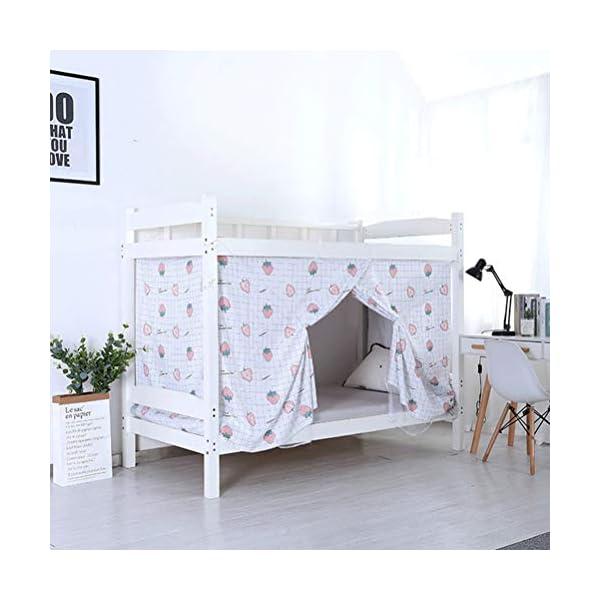 ZXYSR Dormitorio Zanzariera, Letto A Castello Cifratura Reti Letto Baldacchino Quadrato Dormitorio per Studenti… 1 spesavip