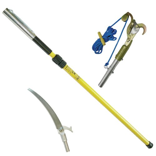 6-12' Double Lock Telescoping Fiberglass Pole with Pruner and Pole Saw Heads by Jameson by Jameson