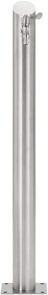 Nishore Colonne /à Eau de Jardin Ronde en Acier Inoxydable D x H argent/é 7,6 x 95 cm avec Haute Qualit/é