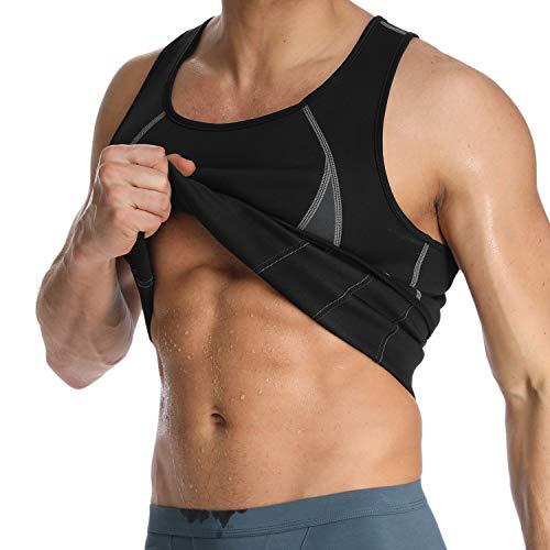 - Men's Neoprene Workout Tank Tops Sweat Sauna Suits Waist Trainer Slimming Body Shaper Thermo Vest Shirt Fat Burner New Black(no Zip) XL