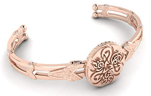 ILO12 18K Plated Gold Bracelet, Original and Unique Cuff (Rose Gold), Bracelet for Mother's Day, Cuff for Mom