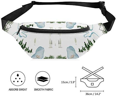 山は白を呼んでいる ウエストバッグ ショルダーバッグチェストバッグ ヒップバッグ 多機能 防水 軽量 スポーツアウトドアクロスボディバッグユニセックスピクニック小旅行