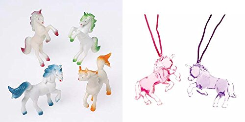 Unicorn Animals Necklace Toy Party Favor Supplies 24 Piece Set for 12 Bundle by U.S. Toy