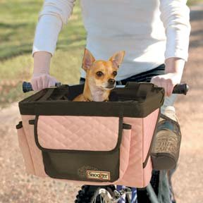 Dog Bicycle Seat – Dog Bike Basket – Pink, My Pet Supplies