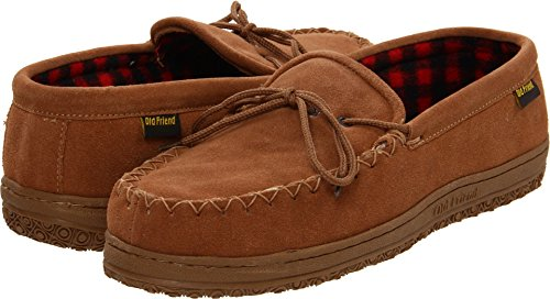 Old Friend Men's Wisconsin Slipper, Chestnut, 9 ()