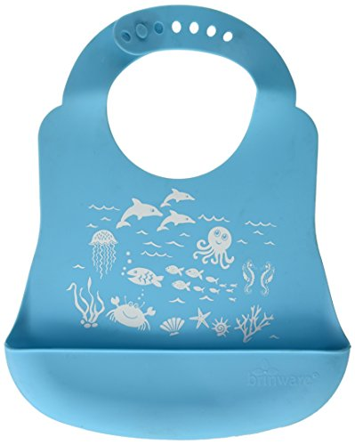 Brinware 'School of Fish' Catch-All Silicone Bib with Pocket ()