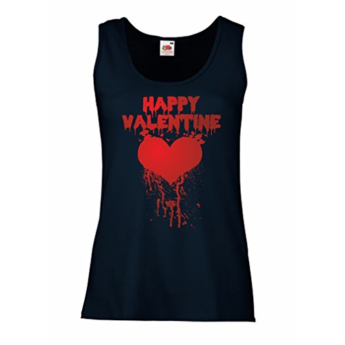 3' Small Pillar Candle (Female Tank Top Happy Valentine Day - I Love You Gifts Love Quotes Heart Gifts (Small Blue Multi Color))