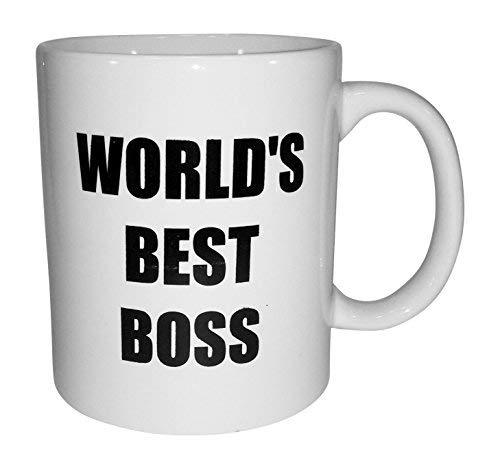 - Bluegrass Mugs Funny World's Best Boss - 11 oz Coffee Mug, White