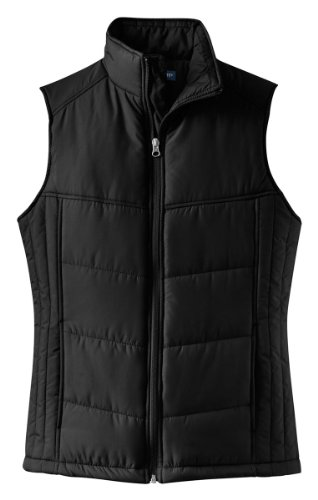 Port Authority - Ladies Puffy Vest. L709 - Black/Black_L