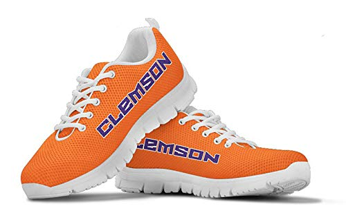 Clemson Tigers Themed Casual Athletic Running Shoe Mens Womens Sizes Football Basketball University Apparel and Gifts for Men Women Fan Merchandise (Mens, Mens US11 (EU45))