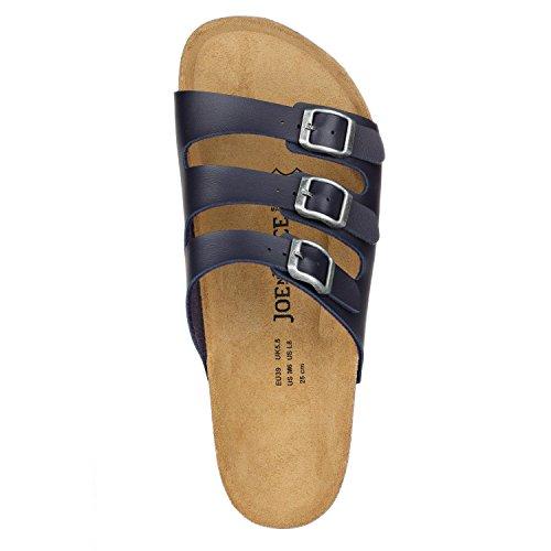JOE N JOYCE Paris SynSoft Soft-Footbed Sandals Narrow Blue T3AE32