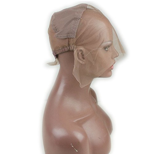 Dreambeauty Full Lace Wig Cap for Making Wigs Swiss and French Lace Hair Net with ear to ear Stretch Medium Brown Color for Wig Making (Full Lace Cap with Adjustable Straps) by Dream Beauty (Image #2)