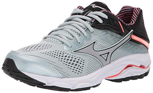Mizuno Women's Wave Inspire 15 Running Shoe, Sky Gray-Silver 8.5 B US