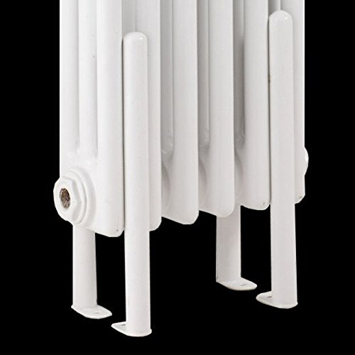 column radiator white floor mounting kit legs brackets for traditional style home garden. Black Bedroom Furniture Sets. Home Design Ideas
