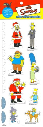 SIMPSONS ROASTING ON AN OPEN FIRE * Episode 7G08 * The Simpsons POP-OUT PEOPLE Characters & Background Set from Dark Horse - Open Mall Springfield