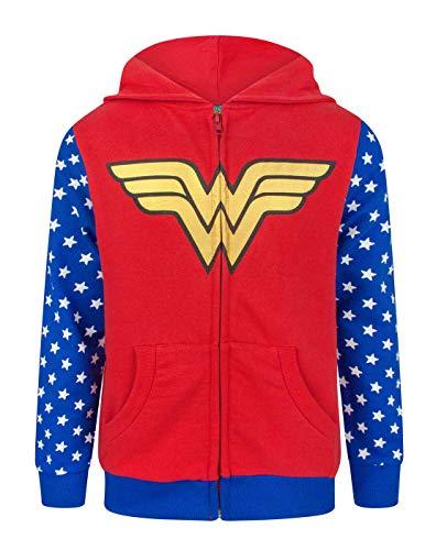 Wonder Woman Logo Girl's Zip-Up Hoodie (9-10 Years)