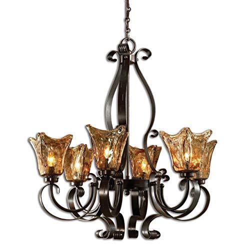 Uttermost 21006 Vetraio 6-Light Chandelier, Oil Rubbed Bronze Finish