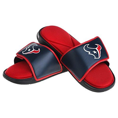 (Houston Texans NFL Mens Foam Sport Slide - M)