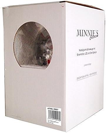 Minium Collection 20091 Nostalgie-Schneekugel Romantische Kutschfahrt Spieluhr Santa Claus is Coming to Town 10cm Durchmesser