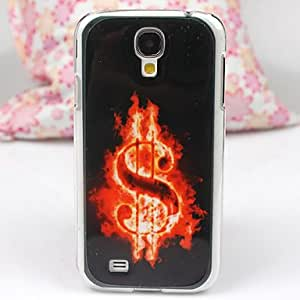 LZX Burning The Dollar Sign Pattern PC Back Case for Samsung S4/I9500