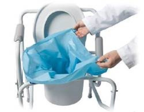 Commode Pail Liners w/Gel Bx/10 Quick Clean