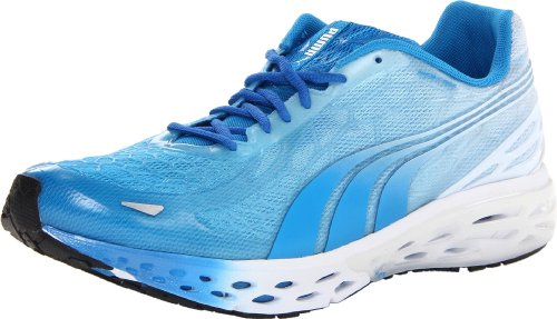 PUMA Men's Bioweb Elite LTD Fashion Sneaker,White/Brilliant Blue,10.5 D US