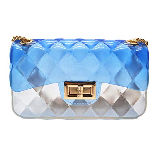 Anlydia Transparent Messenger Bag Lady Gradient Candy Color Shoulder Purses Mini Crossbody Bag]()