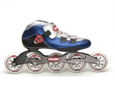 Trurev 5 Wheel Inline Skates 5-90- Adult Size 6 /6.5 -A Great Skate for Ski Crosstraining Reduced 40%