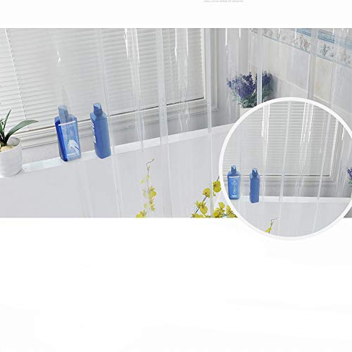 (TENOVEL Clear Mildew Resistant Anti-Bacterial EVA 5G Shower Curtain Liner Standard Size, 72
