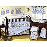 Khaki and Blue Camo Camouflage Military Baby Boy Bedding 9pc Crib Set by Sweet Jojo Designs