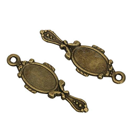 20 x Magic Mirror Charms Beads 23x10mm Antique Bronze Tone for Charms Bracelet Necklace Jewelry Findings #MCZ587