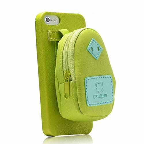 CrazyPomelo Creative Backpack Storage Leather Phone Case For IPhone 5/5S  (Green)