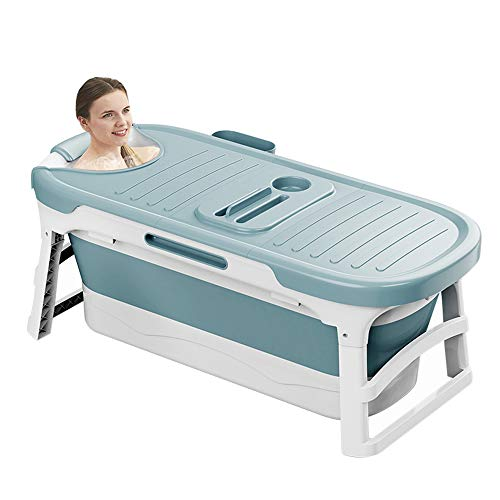 Portable Bathtub for Adults Children and Baby,Uniex Foldable Bathtub Simple Bath Tub Home SPA Bathtub,Easy to Store Plastic Bath Barrel Household Insulation for Baby Adult(53inch)