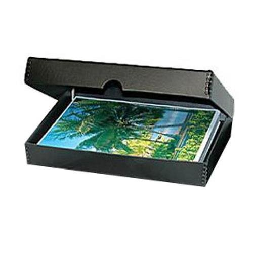 Print File Black Clamshell Metal Edge Archival Box 18x24x1.75'' by Print File