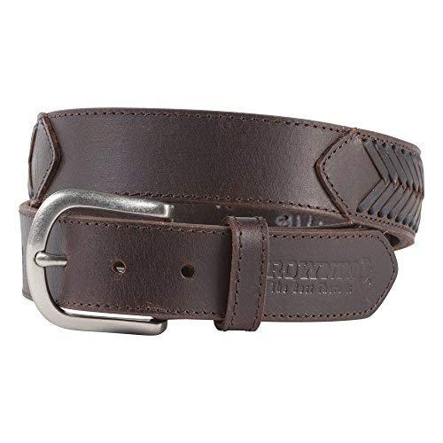 Browning Men's Leather Escalante Belt - Brown (42) (Mens Browning Brown Leather Belt)