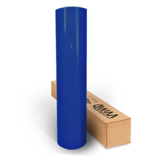 VViViD Gloss Dark Navy Cobalt Blue Vinyl Wrap Film Roll 12 x 5ft Decal Sheet DIY Easy to Use Air-Release Adhesive