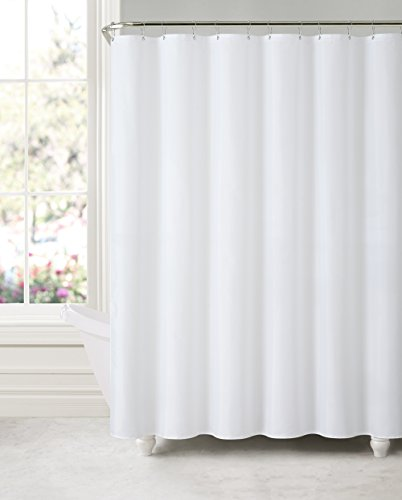 GoodGram Water Repellent Fabric Shower Curtain With Suction