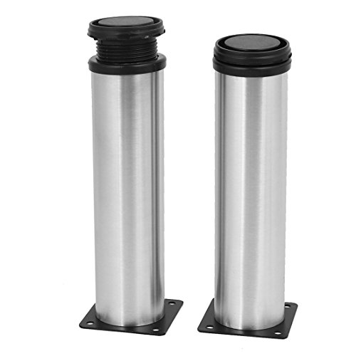 uxcell Kitchen Furniture Cabinet 50mm x 200mm Adjustable Feet Leg Round Stand 2PCS by uxcell (Image #3)